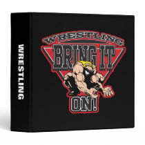 Wrestling Bring It On 3 Ring Binder