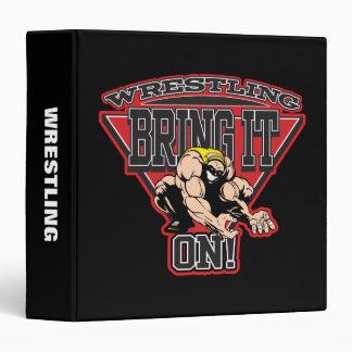 Wrestling Bring It On 3 Ring Binder