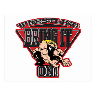 Wrestling Bring It On Postcard