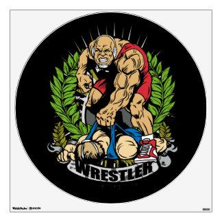 Wrestling Champ Wall Sticker