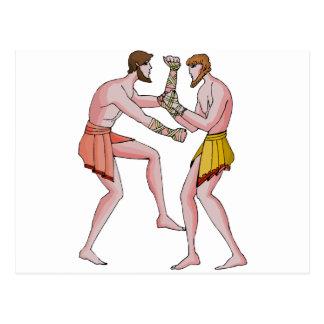 Wrestling champin 396 BC Postcard