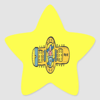 Wrestling Championship Belt Star Sticker