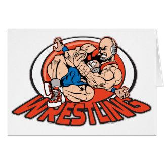 Wrestling Choke Hold Greeting Cards