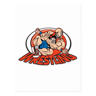 Wrestling Choke Hold Post Cards