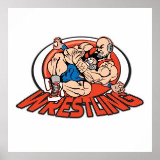 Wrestling Choke Hold Posters