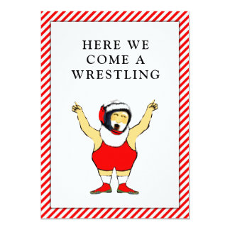 wrestling Christmas cards