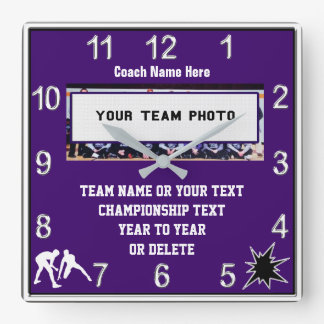 Wrestling Clock with Your Photo, Text and Colors