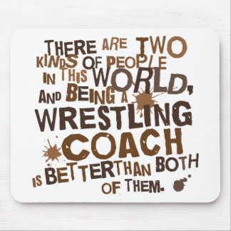 Wrestling Coach Gift Mouse Pads