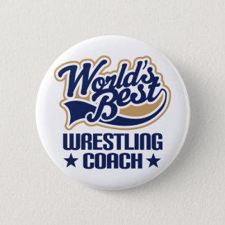 Wrestling Coach Gift Pinback Button