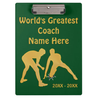 Wrestling Coach Gifts with Your COLORS and TEXT Clipboard