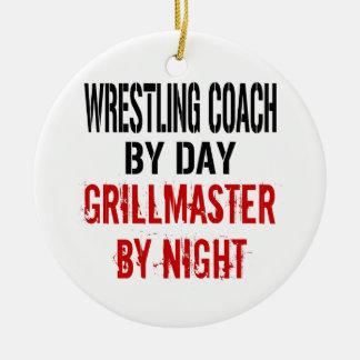 Wrestling Coach Grillmaster Ceramic Ornament