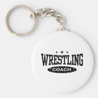 Wrestling Coach Keychain