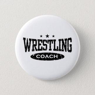 Wrestling Coach Pinback Button