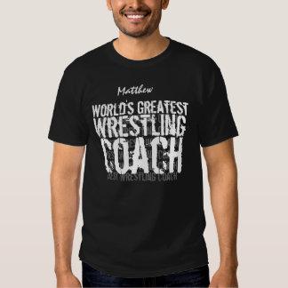 WRESTLING COACH World's Greatest Custom Name 2 T-shirt
