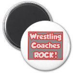 Wrestling Coaches Rock! 2 Inch Round Magnet