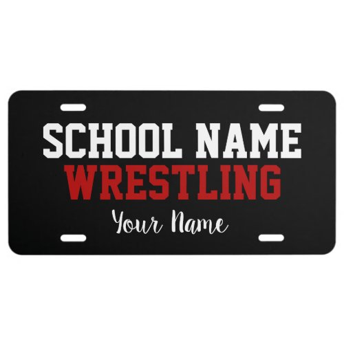 Wrestling _ Create Your Own School Spirit License Plate