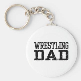 Wrestling Dad Keychain