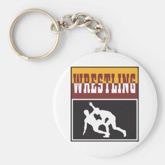 wrestling design keychain