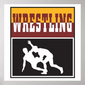 wrestling design posters