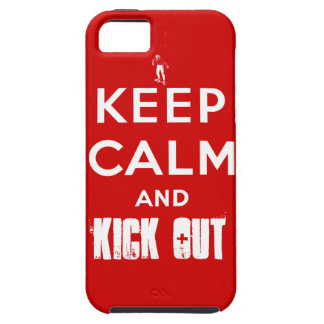 Wrestling Fan iPhone Case Keep Calm And Kick Out