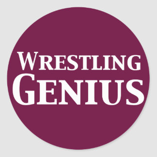 Wrestling Genius Gifts Classic Round Sticker