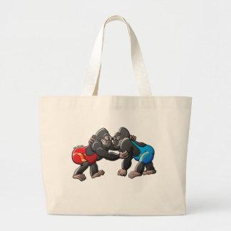 Wrestling Gorillas Canvas Bags