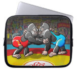 Wrestling Gorillas Computer Sleeves