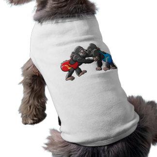 Wrestling Gorillas Doggie Tshirt