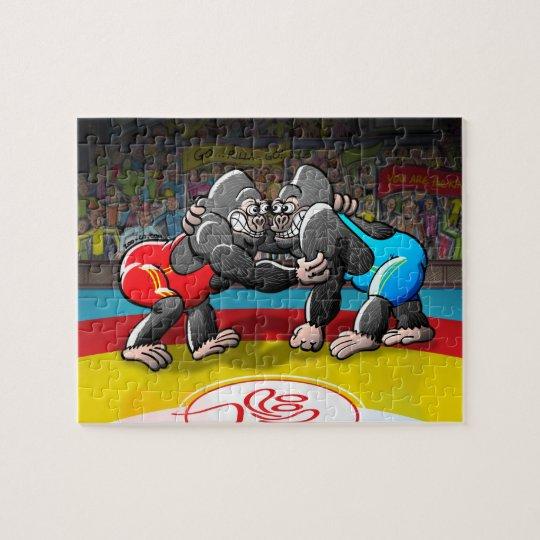 Wrestling Gorillas Jigsaw Puzzle