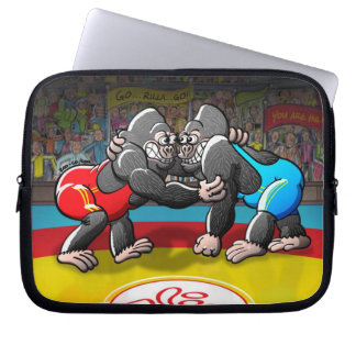Wrestling Gorillas Laptop Sleeves