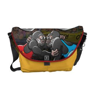 Wrestling Gorillas Messenger Bag