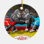 Wrestling Gorillas Ornaments