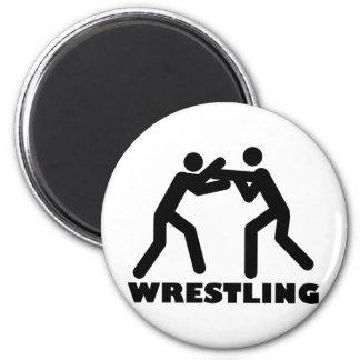 wrestling icon 2 inch round magnet