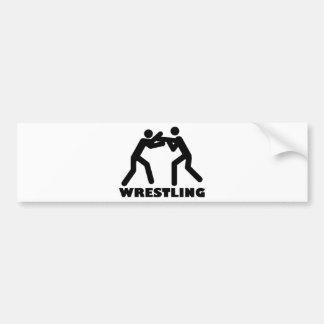 wrestling icon bumper sticker
