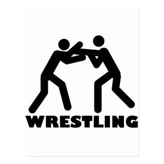 wrestling icon postcard