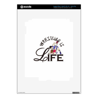 Wrestling is Life Decal For iPad 3