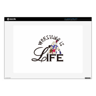 Wrestling is Life Decals For Laptops
