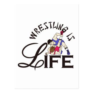 Wrestling is Life Postcard
