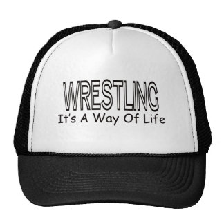 Wrestling It's A Way Of Life Hats