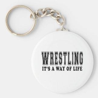 Wrestling It's way of life Basic Round Button Keychain