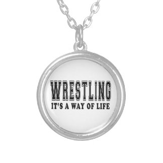 Wrestling It's way of life Silver Plated Necklace