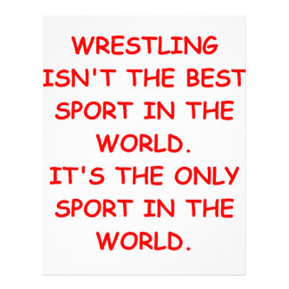 wrestling letterhead