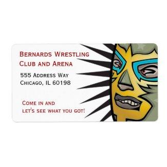 Wrestling Lucha Libre Address labels label