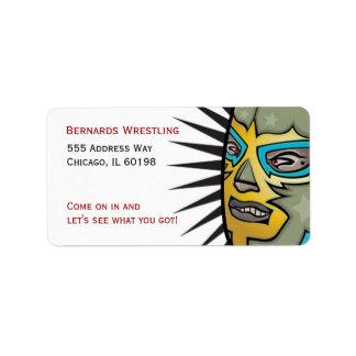 Wrestling Lucha Libre Address labels