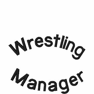 Wrestling, Manager Embroidered Shirt
