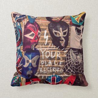 Wrestling masks pillow design.