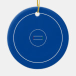 Wrestling Mat Double-Sided Ceramic Round Christmas Ornament