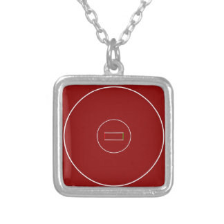Wrestling Mat Silver Plated Necklace