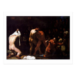 Wrestling Match by Michael Sweerts Postcard