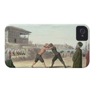 Wrestling Match, Constantinople (w/c on paper) iPhone 4 Case